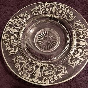 Art Deco Sterling Etched serving dish